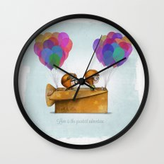 UP Pixar— Love is the greatest adventure  Wall Clock