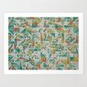 Shapes 008 ver. 2 Art Print