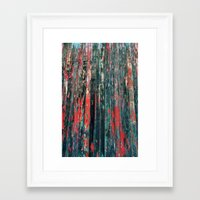 Red Splinters Framed Art Print