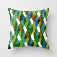 Blurry green pattern Throw Pillow