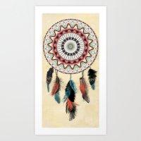 Mandala Dream Catcher Art Print