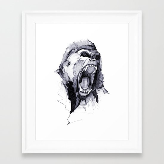 Wild Rage Framed Art Print