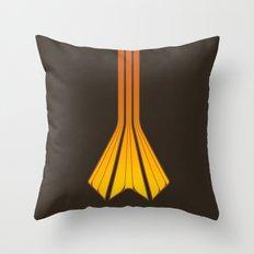 Retro Lines - Orange Flame Throw Pillow