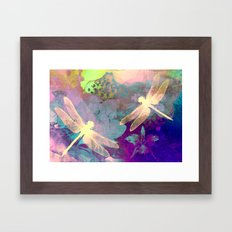 Painting Dragonflies And… Framed Art Print