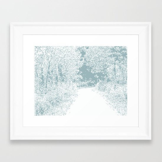 Walk in the Forest Framed Art Print