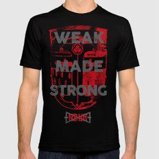 WEAK MADE STRONG Mens Fitted Tee Black SMALL