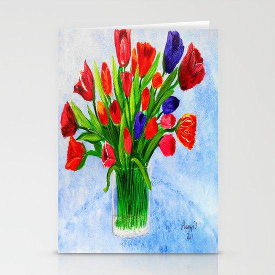 Short stem tulips Stationery Card