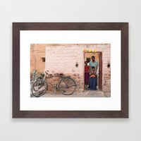 Happy birthday Holi Framed Art Print