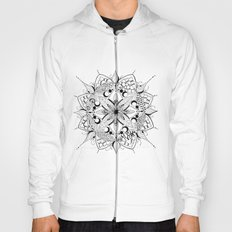 Mandala Art, India, Geometric, Tribal Art, Black and white Hoody