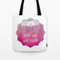 lovers alone wear sunlight Tote Bag