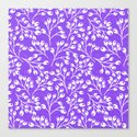 Purple Autumn berries Canvas Print