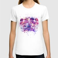 The 4i Skull Universe Womens Fitted Tee White SMALL