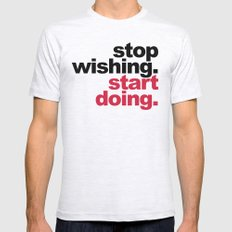Start Doing Motivational Quote Mens Fitted Tee Ash Grey SMALL