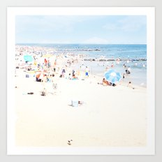 Blue Beach Brooklyn Art Print