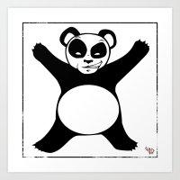 Panda X Art Print