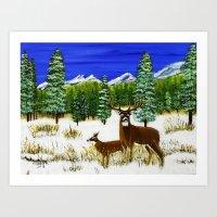 Beginning of winter Art Print