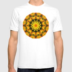 Floral Mandala-style, Ca… Mens Fitted Tee White SMALL