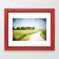 on the way through the summer Framed Art Print