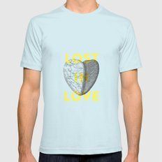 Lost in love SMALL Light Blue Mens Fitted Tee