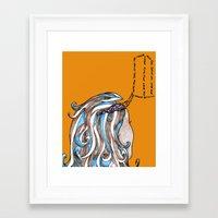 organized thought Framed Art Print