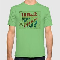 Who R U? Mens Fitted Tee Grass SMALL