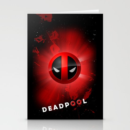 Deadpool Stationery Card