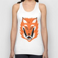Unisex Tank Top featuring Cursed Fox by Jack Teagle