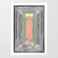 Glitch in the Style of Art Nouveau  Art Print