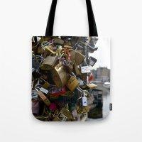 Lovers Locks Tote Bag