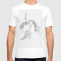 Peace Whale Mens Fitted Tee White SMALL