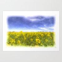 Yellow Fields Of Summer Art Art Print