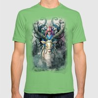 Ashitaka Demon Watercolor Digital Painting Mens Fitted Tee Grass SMALL