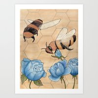 Big Bees Buzzing About B… Art Print