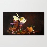 Autumn Mouse Canvas Print
