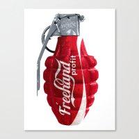 Branding Wars Grenade Canvas Print