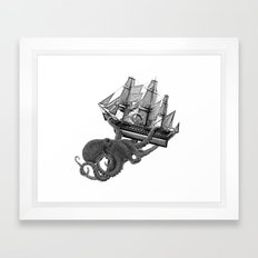 Release the Kraken Framed Art Print