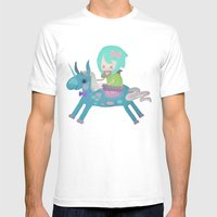 PonyCorn/w Mens Fitted Tee White SMALL