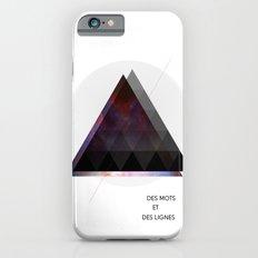 Des Mots et Des Lignes iPhone 6 Slim Case