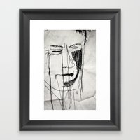 Disappointment Stitch Framed Art Print