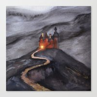Track 24: Castle Hill Canvas Print