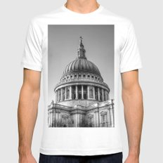 St Pauls, London SMALL White Mens Fitted Tee