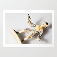 The Little Cowboy, Falle… Art Print