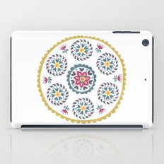 Suzani inspired floral blue 3 iPad Case
