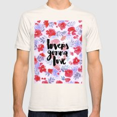 Lovers [Collaboration with Jacqueline Maldonado] Mens Fitted Tee Natural SMALL