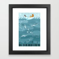 Fishing Framed Art Print