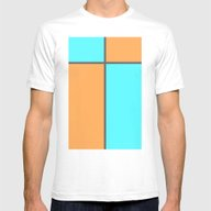 Pastel Cross Mens Fitted Tee White SMALL