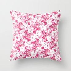 Pink Fantasy Digital Painting Throw Pillow