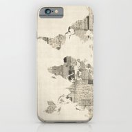 Map Of The World Map Fro… iPhone 6 Slim Case