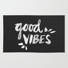 Good Vibes – White Ink Rug