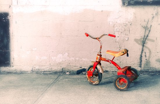 Childs Vintage Tricycle Art Print
